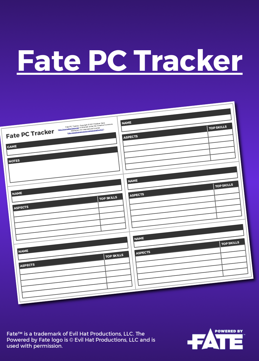 Fate PC Tracker